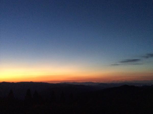 福岡県 英彦山からの夕景