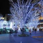 博多駅前のイルミネーション